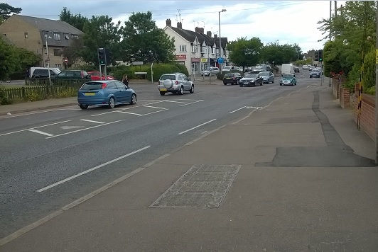 Broomfield Road/Patching Hall Lane junction