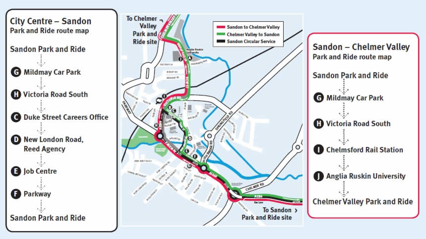 Sandon Park and Ride - from 30 August 2016