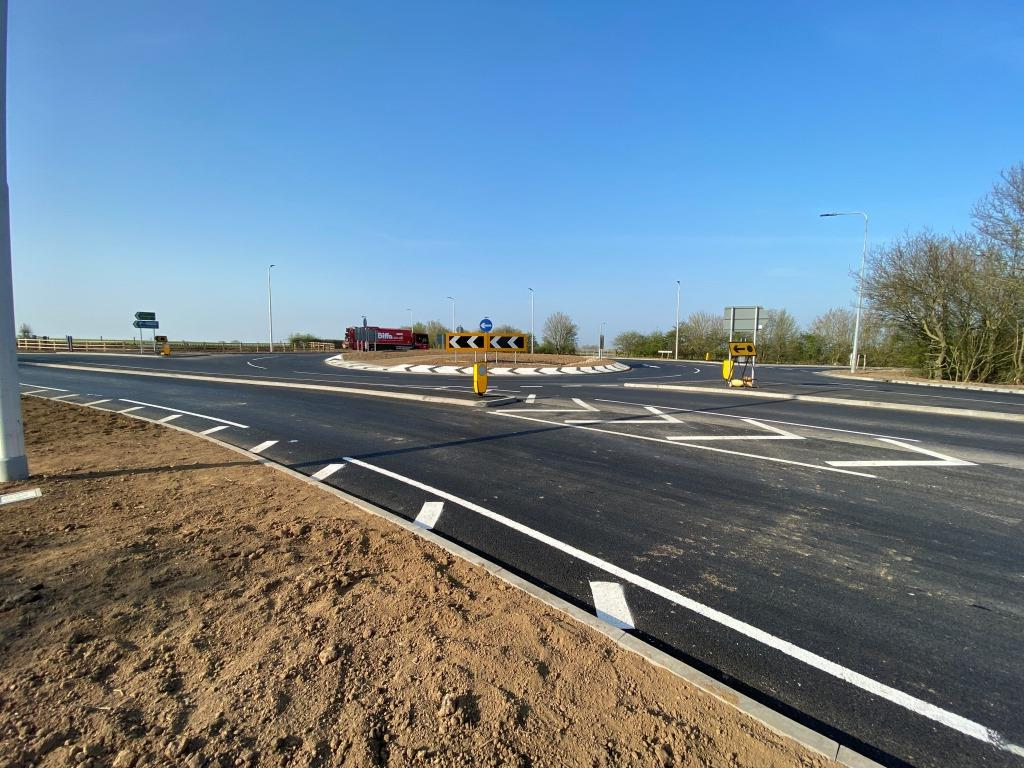 View of Sheepcotes roundabout following completion of highway works