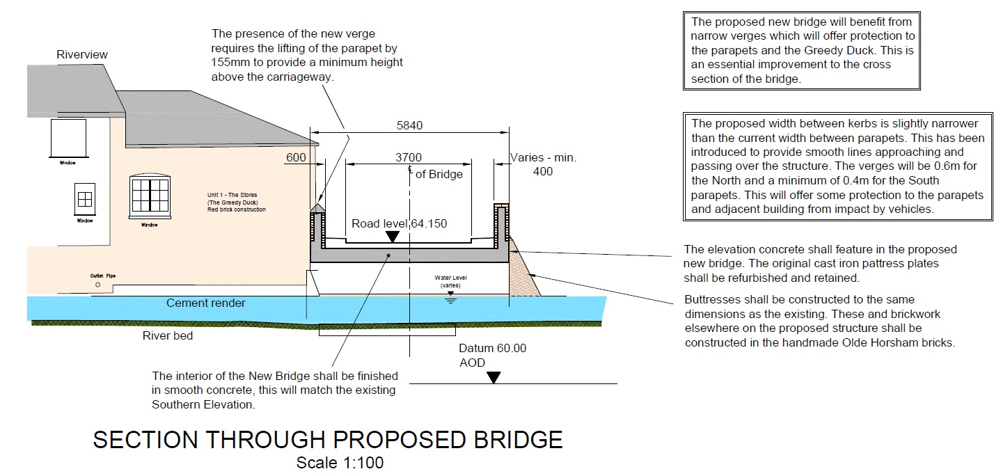 Image of proposed bridge (cross section view)