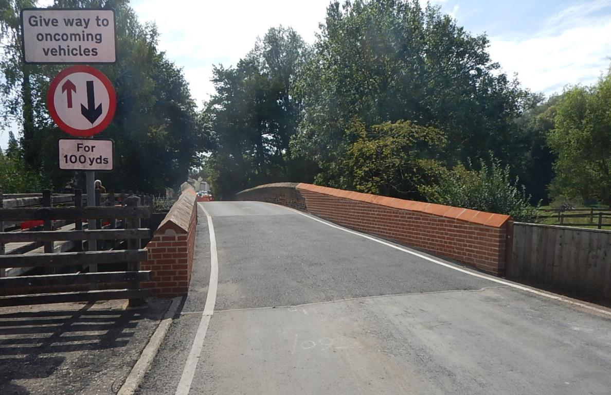 View of bridge from road following repairs