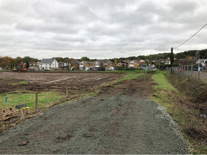View of development site located on Hullbridge Road