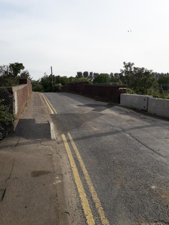 view of Marks Tey Station Bridge (reopened following roadworks)