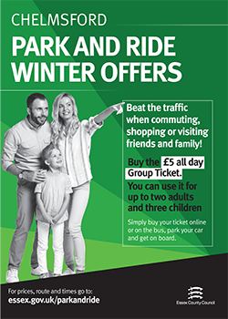 Image shows winter offer of £5 all day Group Ticket