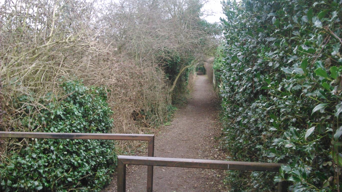 Image of existing path at Church End