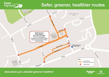 Safer, Greener, Healther Uttlesford - Saffron Walden map
