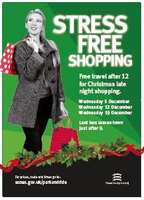 Free travel afer 12 for Chrismas Late Night Shopping