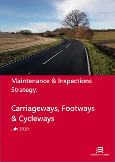 Cover of the Maintenance and Inspections Strategy, Carriageways, Footways and Cycleways - July 2019