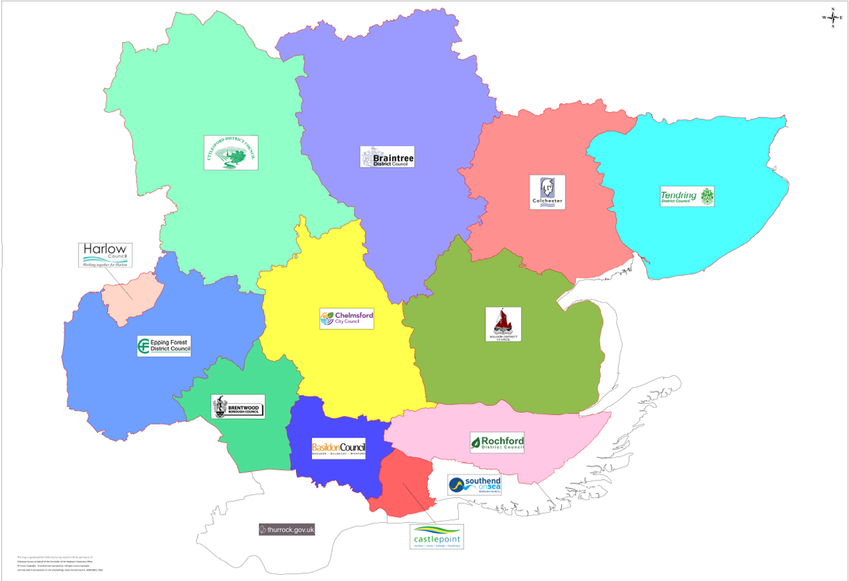 District map Essex County Council