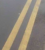 Road markings - yellow lines